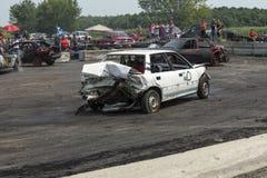 Carros danificados da retaguarda Foto de Stock