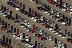 Carros de acima Fotografia de Stock