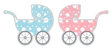 Carros de bebé ilustración del vector