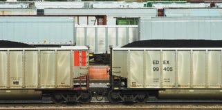 Carros de carvão Foto de Stock
