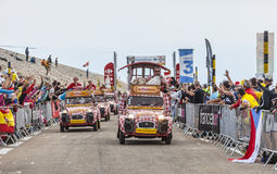 Carros de Cochonou durante o Tour de France Foto de Stock