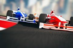 Carros de competência da fórmula 1 Imagem de Stock