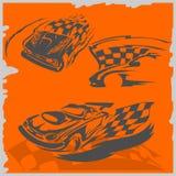 Carros de competência da rua ilustração stock