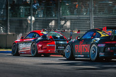 Carros de competência de Porsche GT3 Foto de Stock