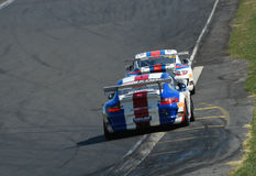 Carros de competência de Porsche GT3 imagens de stock royalty free