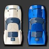 Carros de competência do vetor Foto de Stock Royalty Free
