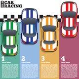 Carros de competência no meta Imagem de Stock Royalty Free