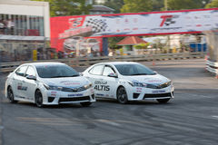 Carros de competência no Motorsport de Toyota Imagem de Stock Royalty Free