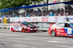Carros de competência no Motorsport de Toyota Imagens de Stock