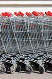 Carros de compra. Fotos de Stock