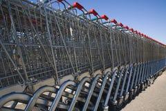 Carros de compra 2 Imagem de Stock Royalty Free