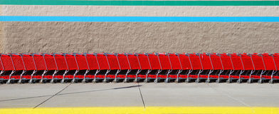Carros de compra Fotografia de Stock Royalty Free