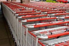 Carros de compra brancos Foto de Stock Royalty Free