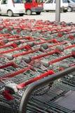 Carros de compra na alameda Imagem de Stock
