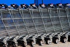 Carros de compra vazios Foto de Stock