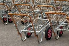 Carros de compras Fotografía de archivo