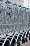 Carros de compras Imagen de archivo libre de regalías
