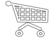 Carros de compras foto de archivo libre de regalías