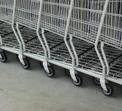 Carros de compras Imagenes de archivo