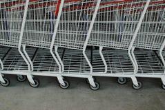 Carros de compras Fotos de archivo libres de regalías