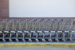 Carros de compras fotografía de archivo libre de regalías