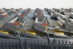Carros de compras. Fotografía de archivo libre de regalías
