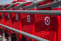 Carros de compras do alvo imagens de stock