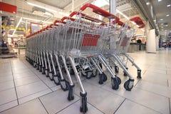 Carros de compras estacionados Imagen de archivo