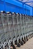 Carros de compras vacíos Fotos de archivo libres de regalías