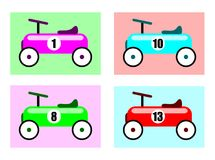 Carros de corridas Fotos de Stock