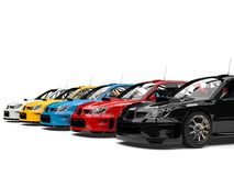 Carros de corridas coloridos modernos da GT ilustração stock