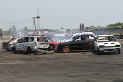 Carros de derby da demolição Fotos de Stock