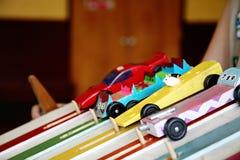 Carros de Derby prontos para competir Fotografia de Stock Royalty Free
