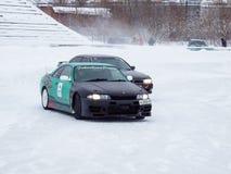 Carros de derivação no gelo Imagens de Stock