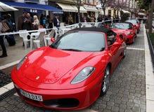 Carros de esportes de Ferrari Fotografia de Stock