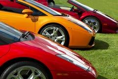 Carros de esportes europeus caros Imagens de Stock