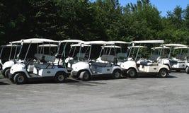 Carros de golf Fotos de archivo libres de regalías