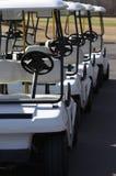 Carros de golfe Imagens de Stock Royalty Free
