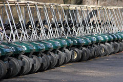 Carros de golfe Imagens de Stock