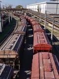 Carros de la carga Foto de archivo