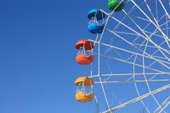 Carros de la rueda de Ferris horizontales Foto de archivo libre de regalías