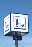 Carros de la señalización Imagen de archivo libre de regalías