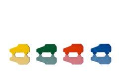 Carros de madeira coloridos Imagens de Stock Royalty Free
