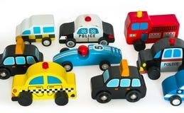 Carros de madeira do brinquedo Fotos de Stock
