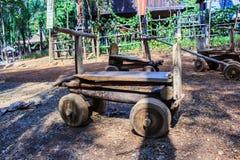 Carros de madeira do brinquedo Fotos de Stock Royalty Free