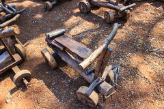 Carros de madeira do brinquedo Fotografia de Stock Royalty Free