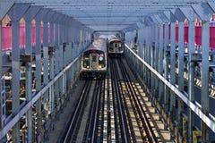 Carros de metro de New York City Imagens de Stock