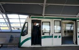 Carros de metro em uma estação em Sófia, Bulgária o 2 de abril de 2015 Imagem de Stock Royalty Free