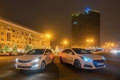 Carros de motor brandnew Hyundai Foto de Stock Royalty Free