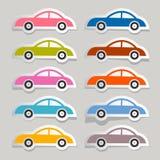 Carros de papel coloridos do vetor ajustados Fotografia de Stock